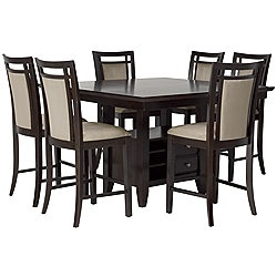 Newport Dark Tone High Table Amp 4 Barstools My Style