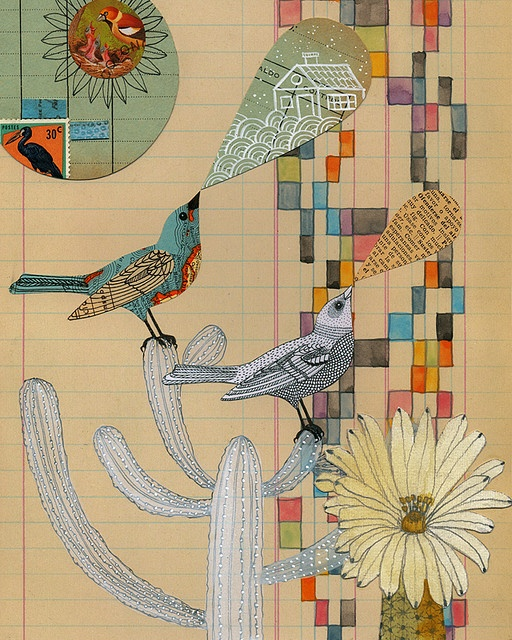 Geninne D Zlatkis ... love the mixed media on simple notebook paper