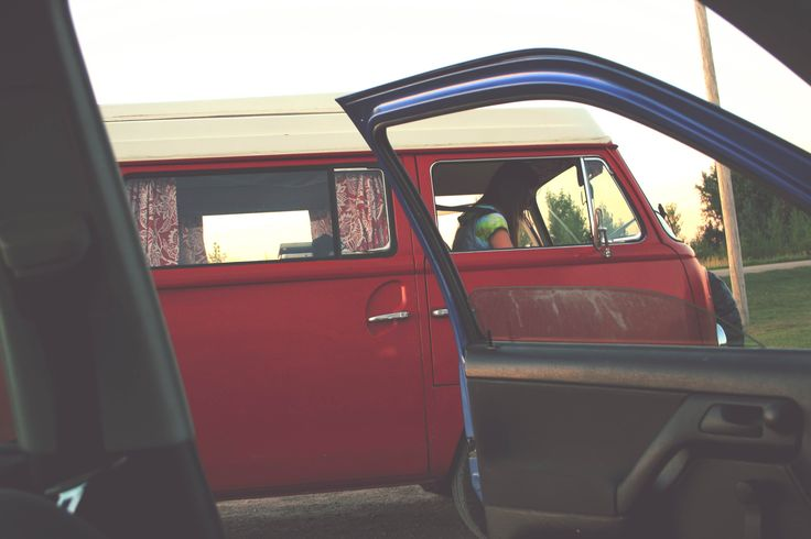 That time the gang went on a camping trip in Audery and I snuck a photo of my friend in the passenger seat being a hippie