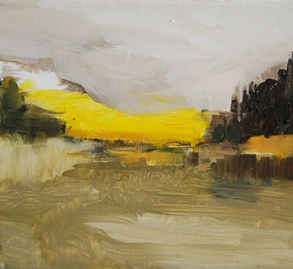 Marécage Jaune, 2011 | Oil on canvas | 16 x 16 inches