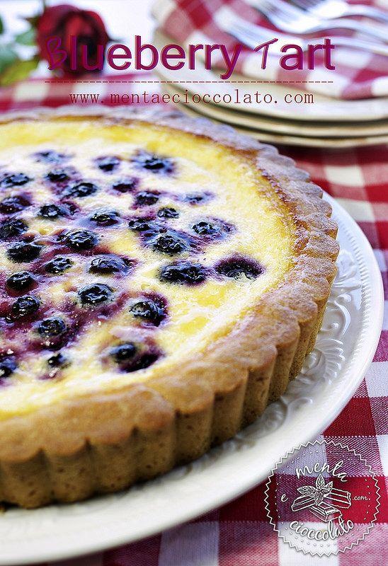 Menta e Cioccolato: Blueberry Tart o meglio Crostata di Mirtilli con crema alla panna acida... dopo due giorni di SIGEP!!