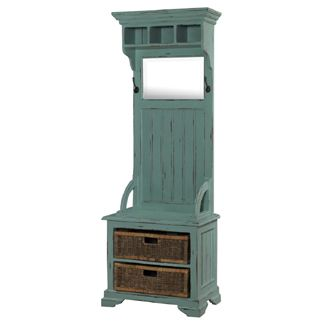 Farmhouse Hall Tree with Baskets [BR24565] - $845.00 : The Painted Cottage, Vintage Painted Furniture