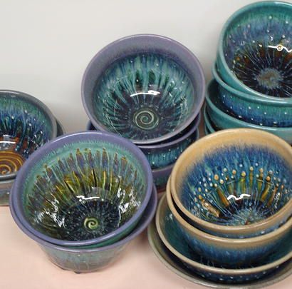 Glazed Impressions   Pottery by Miles Stearn   beautiful bowls