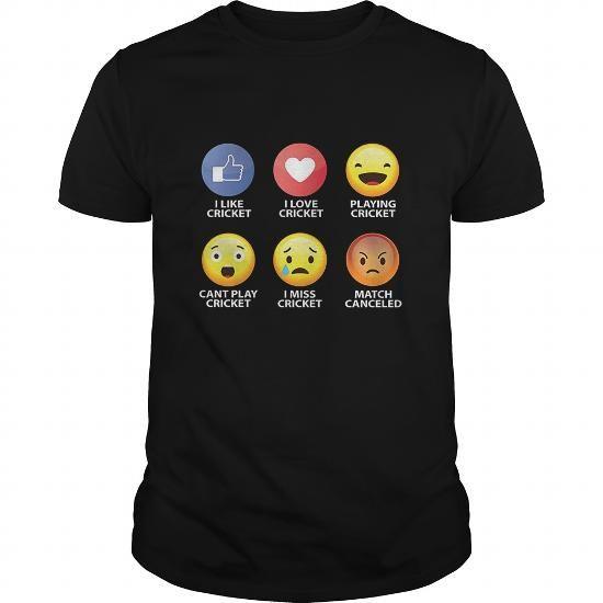Cricket Emoji Shirt cricket tee shirt sport man #Cricket