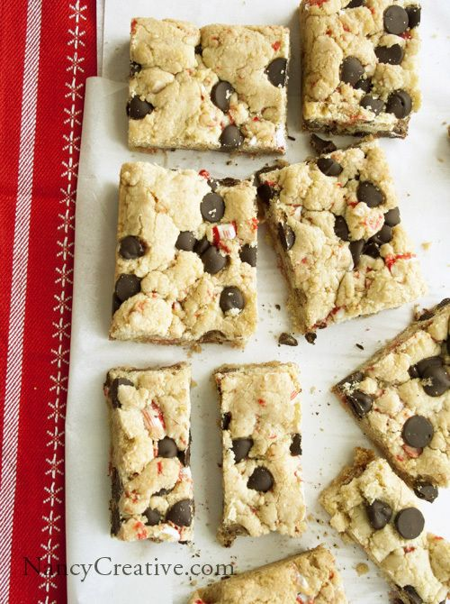 Dark Chocolate Peppermint Cookie Bars | [ Recipes to Try ] | Pinterest
