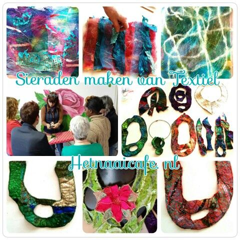 Sieraden van textiel Hetnaaicafe.nl