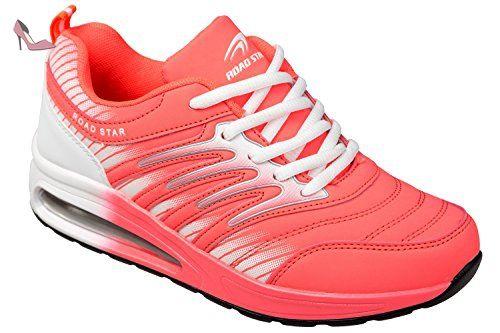 GIBRA baskets, très léger et confortable-rose/blanc-taille 36 - Rose - Rose, 41 - Chaussures gibra (*Partner-Link)