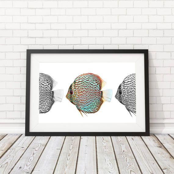 Fish printable Sealife poster Beach House by BatLabPrintables