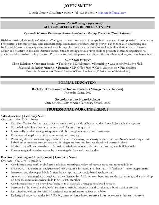 Customer Service Representative Resume Template | Premium Resume Samples & Example