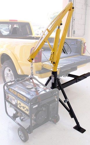 """MaxxTow Hydraulic Pickup Truck Crane for 2"""" Hitches is a back saver. It can hoist up to 1,000 lbs of game, generators, etc into the truck bed with ease."""
