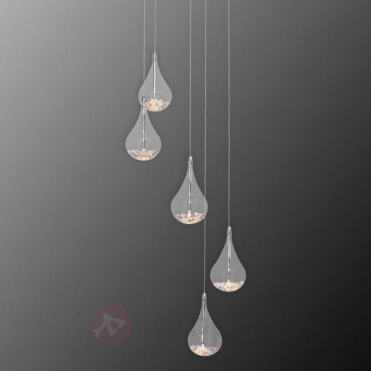 Dekoracyjna, 5-pkt. lampa wisząca MAIRA bezpieczne & wygodne zakupy w sklepie internetowym Lampy.pl.