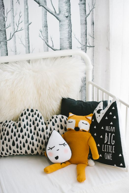 Children's rooms with woodland theme