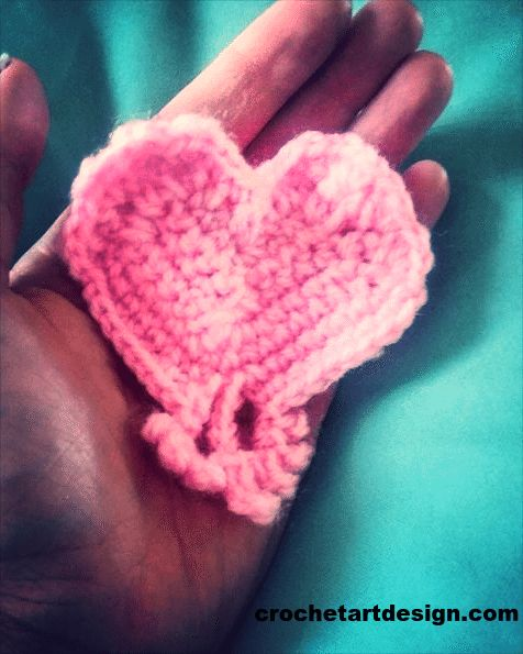 How to Crochet Heart ~ Free Crochet Pattern      Skill level: Basic    Crochet Materials:    Crochet hook size 3.o    Crochet yarn: Pink 4 ply, 100 % acrylic    Sewing needle  Crochet stitches  This pattern uses US stitch abbreviation.    Chains (ch)    Slip stitch (sl st)    Single crochet (sc)    Half Double crochet (hdc)    Double crochet