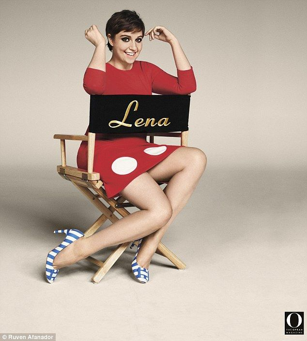 Keeping up: In the new issue of O Magazine, Lena Dunham admits that celebrity gossip sites...