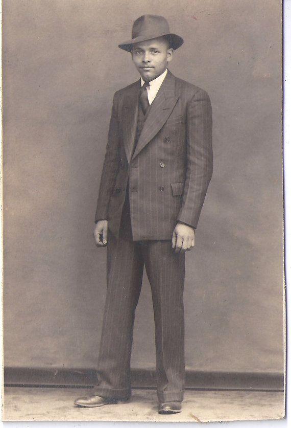 Five Vintage Photographs Lot of Dapper African American men in hats by TheTwinkleOfAnEye
