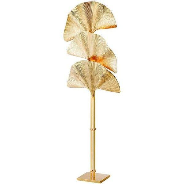 Ginko Biloba Floor Lamp In Polished Brass ($3,719) ❤ liked on Polyvore featuring home, lighting, floor lamps, beige, warm white lights, cream floor lamp, leaf floor lamp, polished brass lighting and polished brass floor lamp