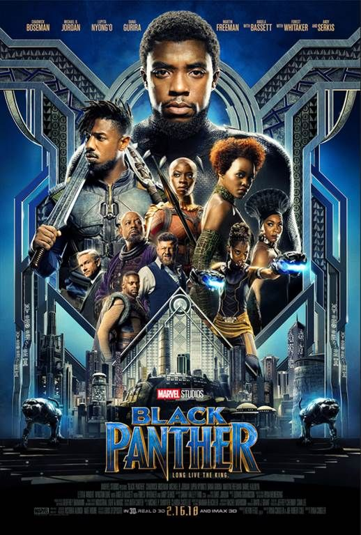Check out the new movie trailer & poster for the upcoming Marvel film, BLACK PANTHER coming to theaters February 16, 2018. #BlackPanther
