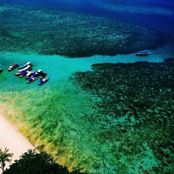Lengkuas island.  Bangka-Belitung.  Indonesia.