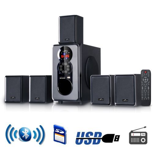 Home Theater Systems: 5.1 Channel Surround Sound Bluetooth Home Stereo Speaker Home Theater System Usb -> BUY IT NOW ONLY: $88.8 on eBay!