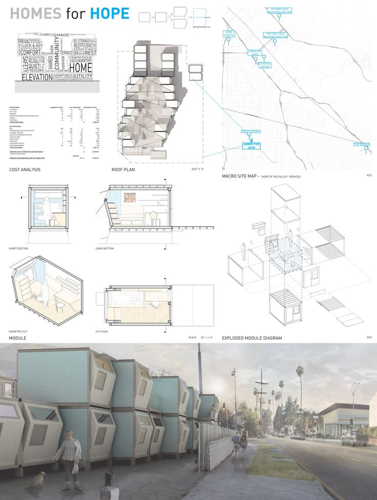 USC students have designed shelters for homeless people, ranging from a tent structure made from a shopping cart to a tiny house made of scavenged material.