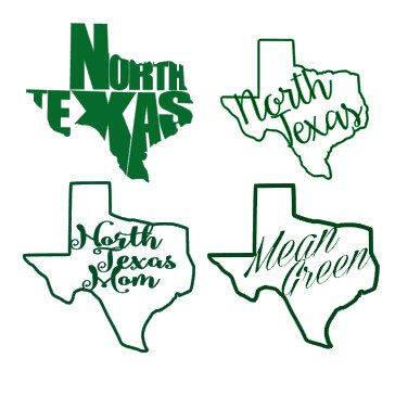 University of North Texas Mean Green Decal Art by ShopArtsyFartsy