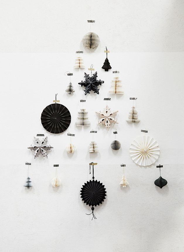 christmas tree / arbre de noël avec des pliages