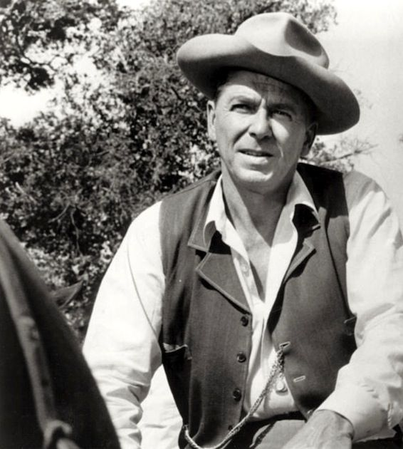 """""""Death Valley Days"""" was hosted and occasionally starred Ronald Reagan in the early 1960s. It ran from 1954-1962. The original and longest running host was Stanley Andrews as """"The Old Ranger"""". The show was Reagan's last acting gig before going on to politics."""