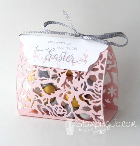 Detailed Floral Thinlits, Easter treat bag, handmade gift idea, Stampin Up
