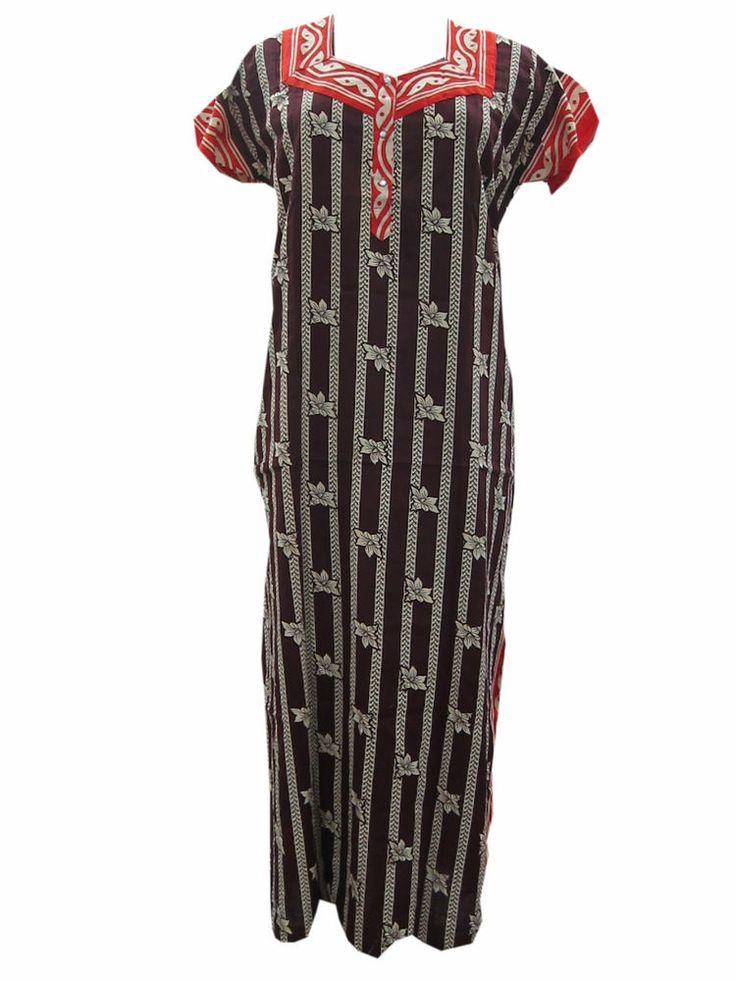 Long Nighty Trendy Fashion Printed Cotton Sleep Wear