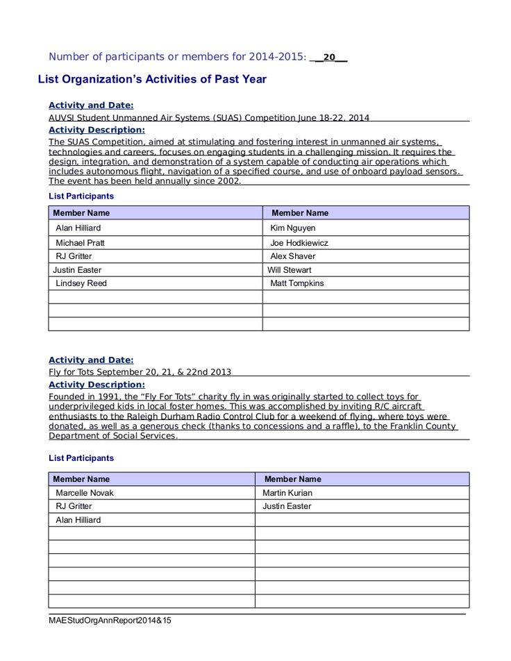 7 best Student Club Organization Annual reports images on - house cleaner resume