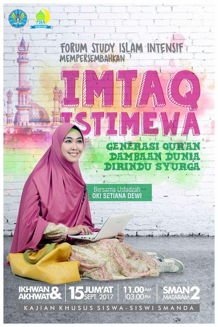Poster Imtaq Istimewa 2 Client : SMAN 2 Mataram - NTB