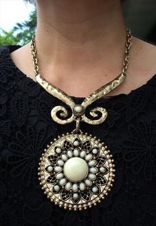 sunflower statement necklace