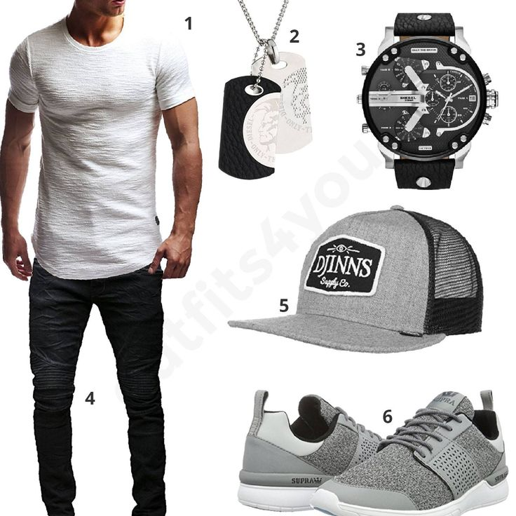 Cooler Herren-Style mit Diesel Uhr und Anhänger (m0429) #outfit #style #fashion #menswear #mensfashion #inspiration #shirt #cloth #clothing #männermode #herrenmode #shirt #mode #styling #sneaker #menstyle