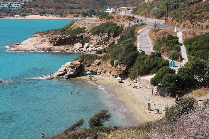 """#Andros #Geece AGIOS KIPRIANOS Location: On the western side of the #island, on the main road leading from Batsi to Gavrio, just before """"Chrisi Ammos"""".  Special features: Small sandy #beach, bounded by rocks that offer shade, ideal for fishing. Its landmark is Agios Kiprianos chapel. #Diving courses are provided. There is also a tavern.  How to get there: By car or bus, following the main road from the port of Gavrio to Stavropeda. After """"Chrisi Ammos"""" and before Batsi. There is a parking…"""