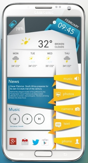 [Hot HomeScreen] Nice Ice Theme For Android