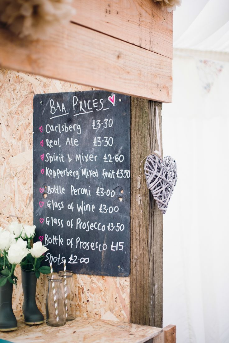 Chalkboard Sign Wedding