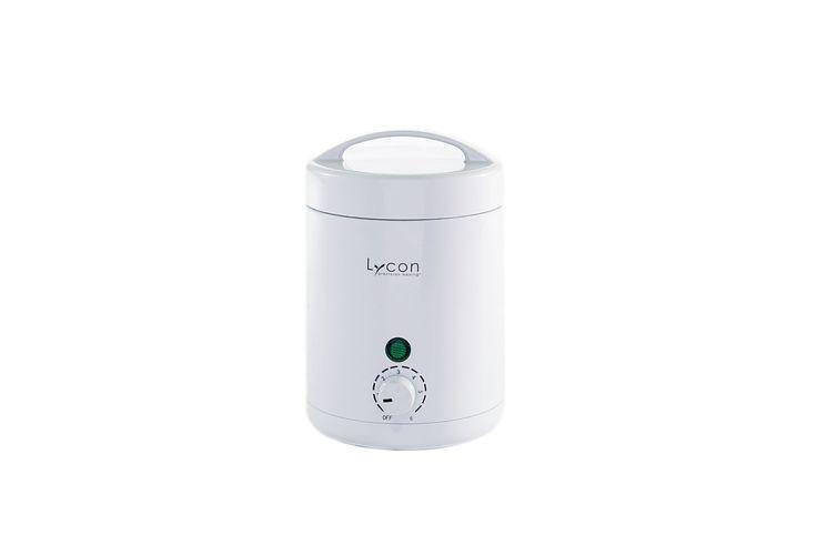 ライコプロ ベビーワックスヒーター フェイシャルや小さなパーツ向けの小容量ヒーター。 ・パイロットランプの点灯で、加熱・保温状態が分かる、ダイヤル式6段階の温度調節機能付 ・最高加熱温度は70℃ ・内側のアルミカップは、取替え使用可能 ・アルミカップの容量は225g ・衛生的なフタ付で、カップに残ったワックスの保存可  サイズ︓直径95mm×高さ130mm 容量 ︓225g