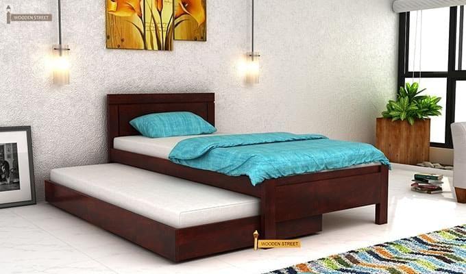 Cristiano Trundle Bed (Teak Finish)