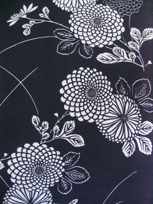yukata / fabric / kiku flower.