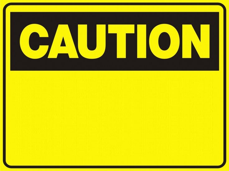 Shocking image intended for printable caution signs