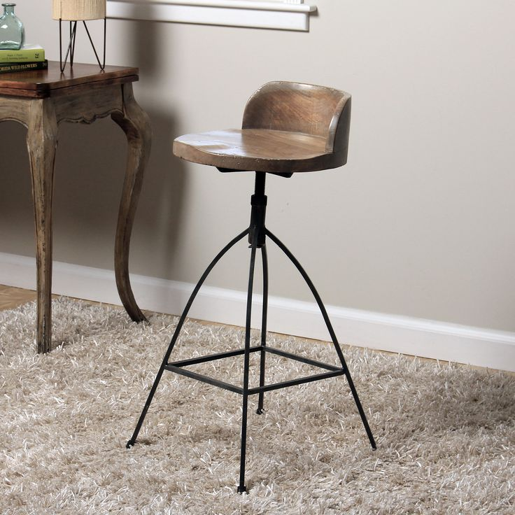 Spa Luxe Rolling Stool With Back Support