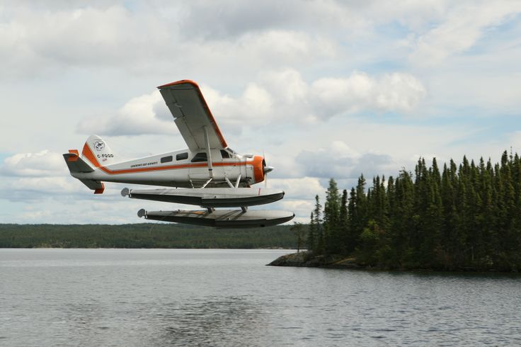 Fly in by biplane to Lawrence Bay Lodge