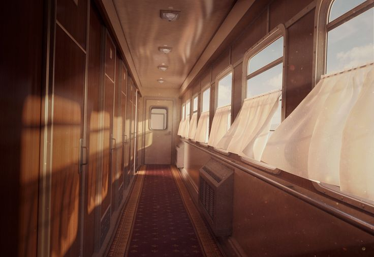 Train Carriage, Sandra Castela on ArtStation at https://www.artstation.com/artwork/N0Ewb