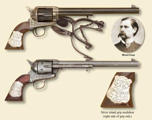 The Guns of Wyatt Earp - http://westerncollectibles.blogspot.com/2012/07/photo-guns-of-wyatt-earp.html