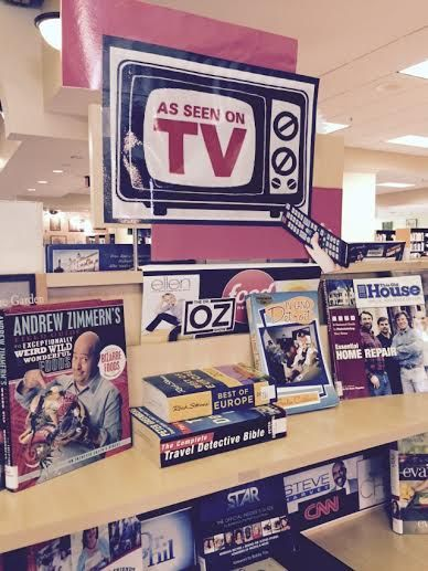 """As Seen On TV""  Library Book Display Bedford Branch Library Temperance, Michigan"