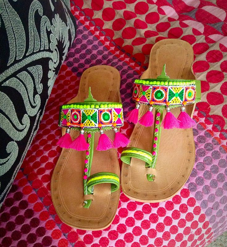 WANT these happy sandals