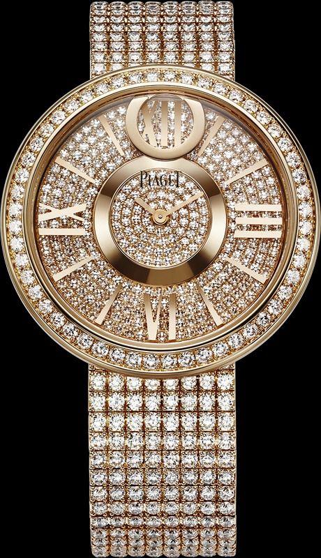 "Piaget ""Dancing Light"" Watch, 18k rose gold52 brilliant cut Diamonds. dial set…"