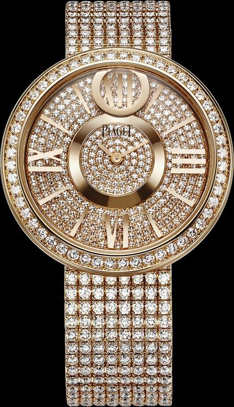 Lady Millionairess..Pink gold Diamond Watch - Piaget