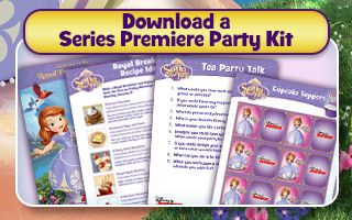 FREE Sophia the First Premire Party Kit