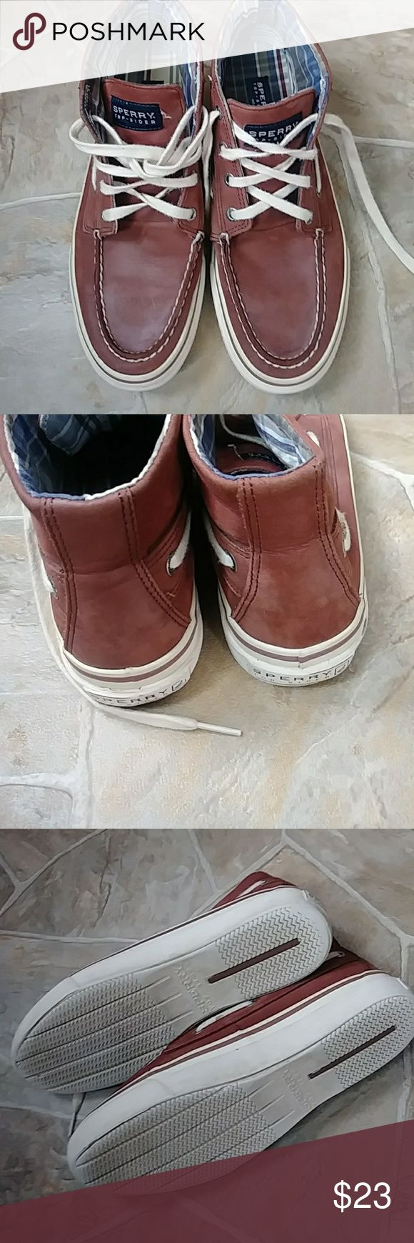Men's Sperry Top-Sider Sperry mens shoe boot. Shoes laces are in great shape. Shoe has one minor flaw and is shown in pictures. Perfect to complement your style. Sperry Top-Sider Shoes Sneakers